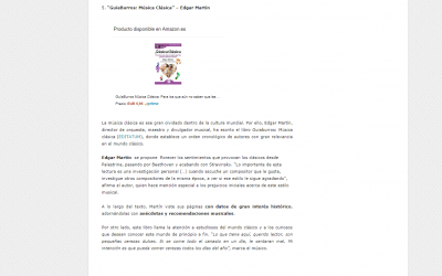 El GuíaBurros: Música clásica, entre los mejores libros sobre Música clásica
